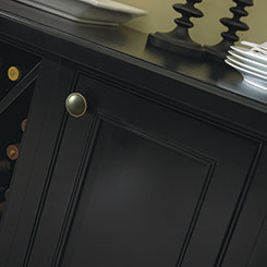 Close-up detail of Bancroft cabinet door