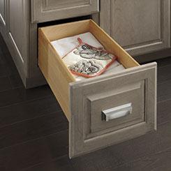 Drawer Of Framed Cabinet Pulled Open