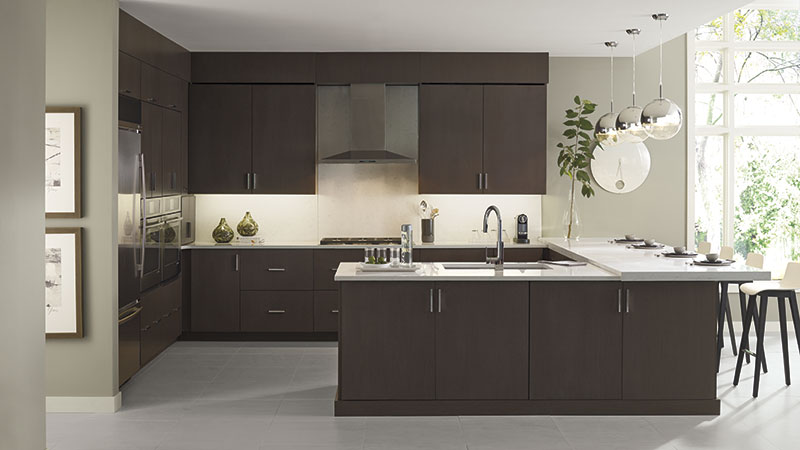 Desoto kitchen cabinets in Wenge Riverbed finish