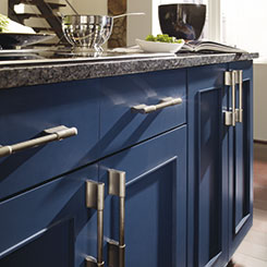 Metro Painted Kitchen Cabinets In Blue Lagoon