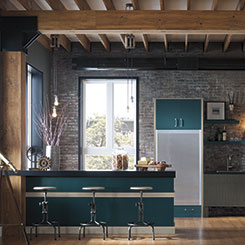 Nella kitchen cabinets in a custom color