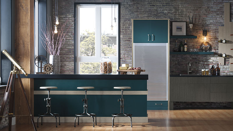 Nella kitchen cabinets in custom color