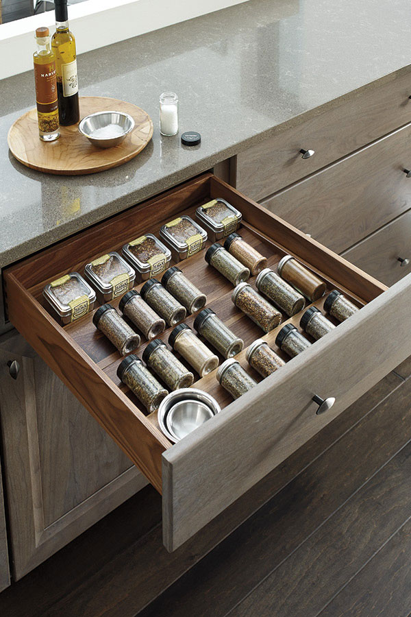 Pinnacle Series Specie Matched Spice Drawer
