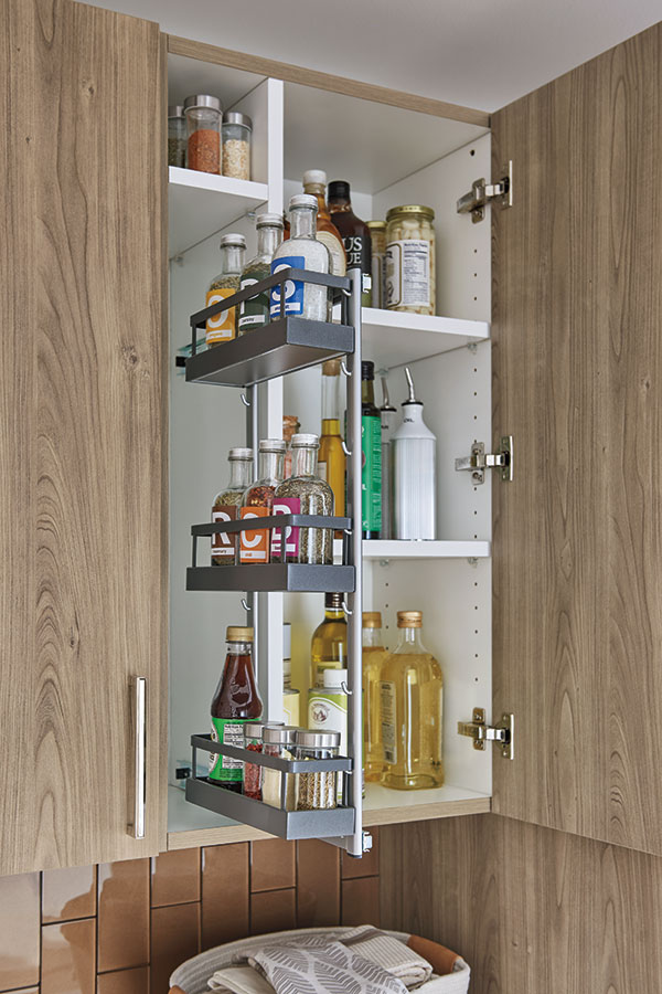 Wall With Spice Rack