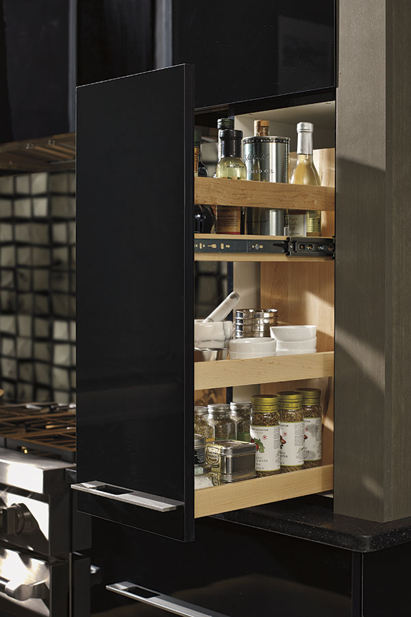 Wall Pullout Cabinet with Adjustable Shelves