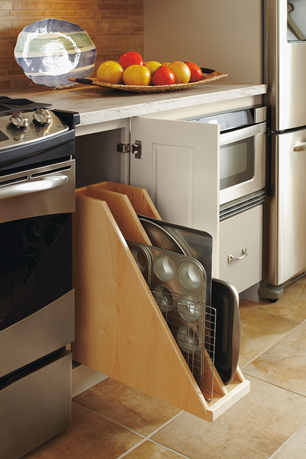 Pull Out Tray Divider Omega Cabinetry