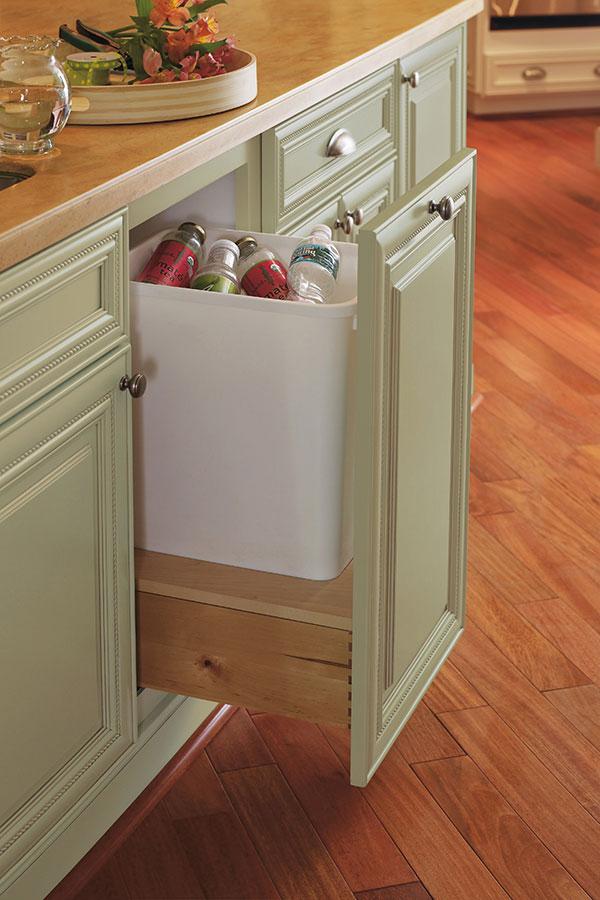 Incroyable Base Waste Basket Cabinet, Single
