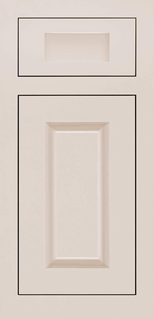 Adagio 5-piece maple inset cabinet door in magnolia