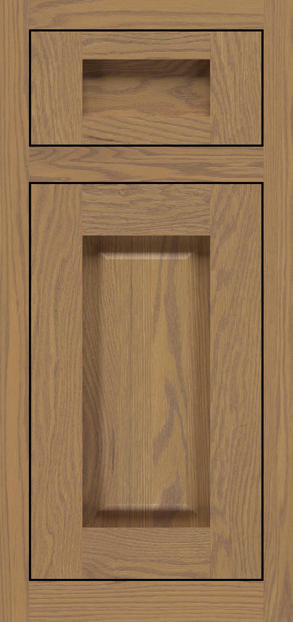 Adagio 5-piece oak inset cabinet door in desert