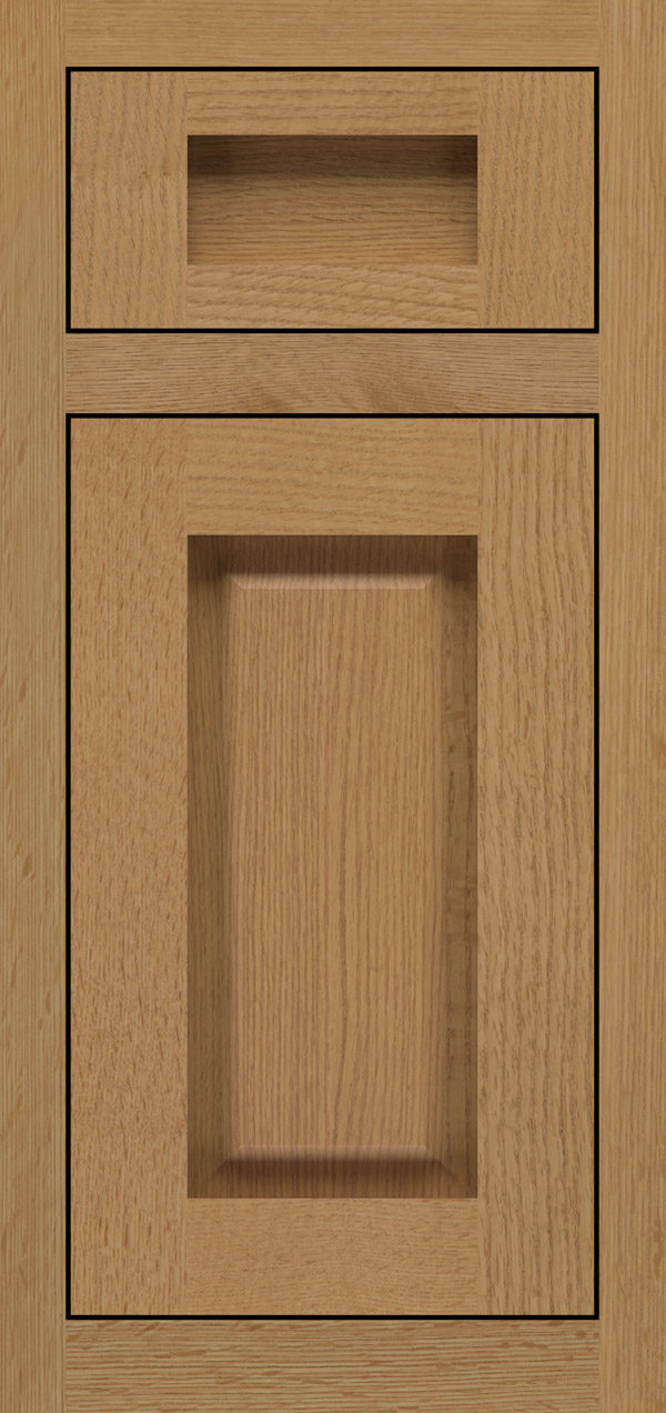 Adagio 5-piece quartersawn white oak inset cabinet door in desert