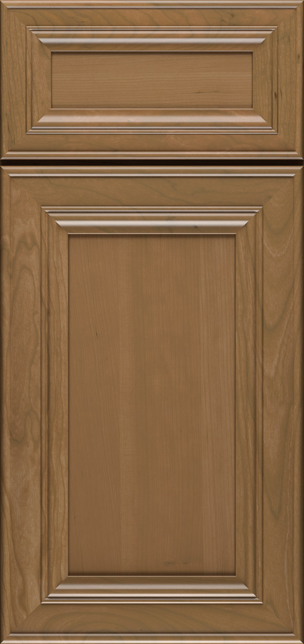 Anson 5-piece cherry flat panel cabinet door in desert
