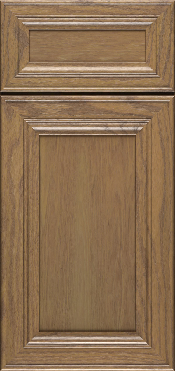 Anson 5-piece oak flat panel cabinet door in desert