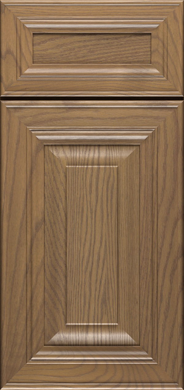 Artesia 5-piece oak raised panel cabinet door in desert
