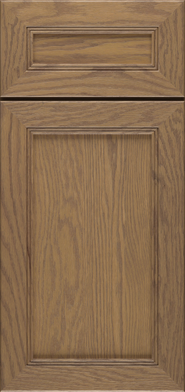 Bancroft 5-piece oak reversed raised panel cabinet door in desert