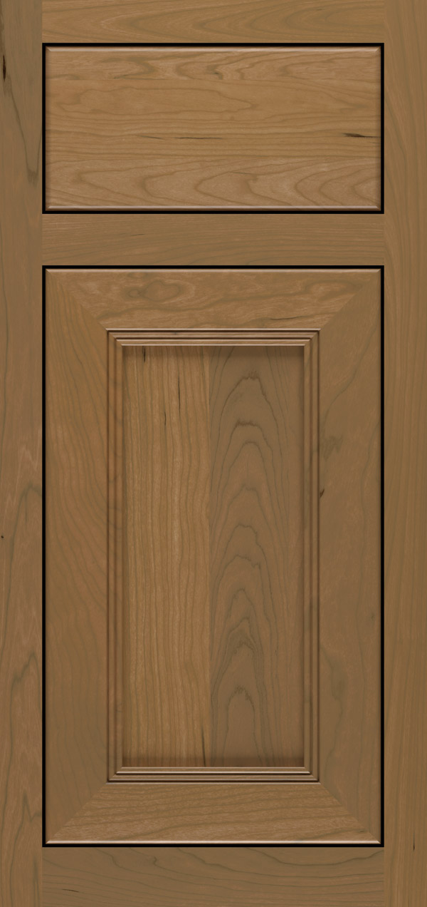 Bancroft cherry inset cabinet door in desert