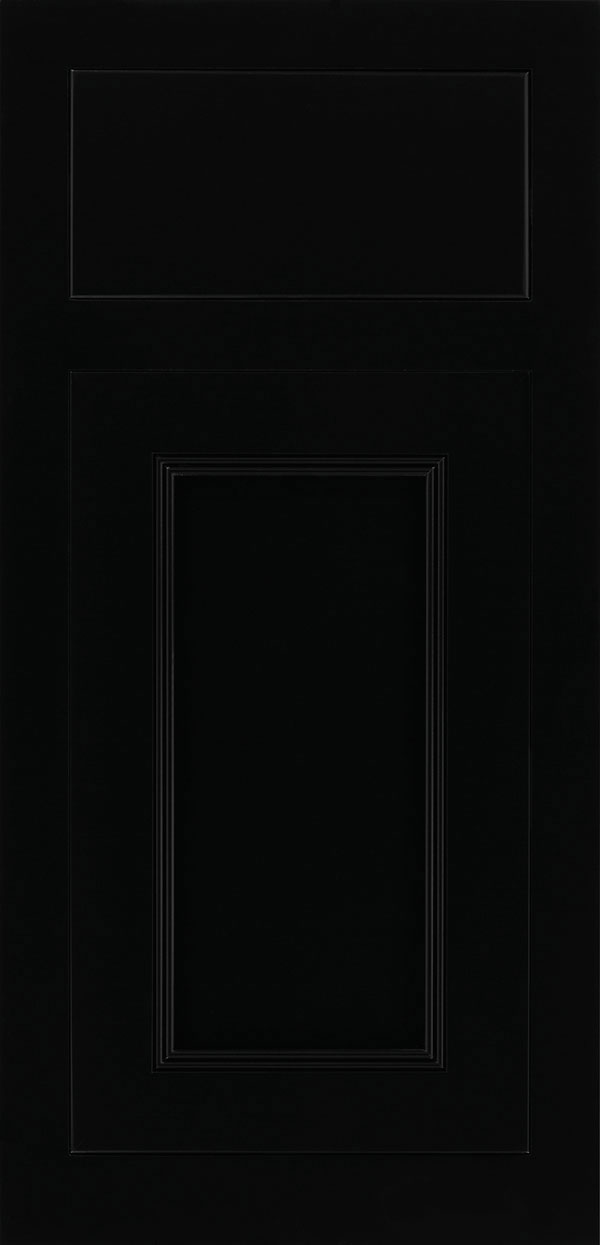Bancroft maple beaded inset cabinet door in black