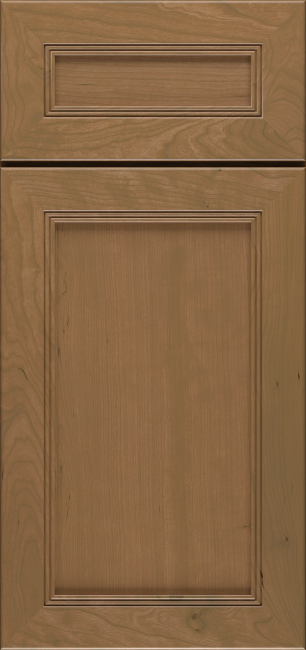 Barrington 5-piece cherry flat panel cabinet door in desert