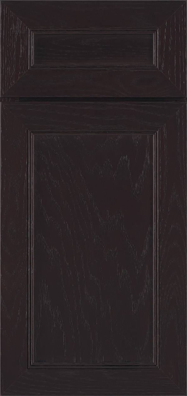 Barrington 5-piece oak flat panel cabinet door in labrador