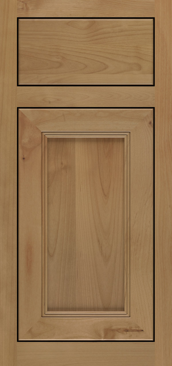 Barrington alder inset cabinet door in desert