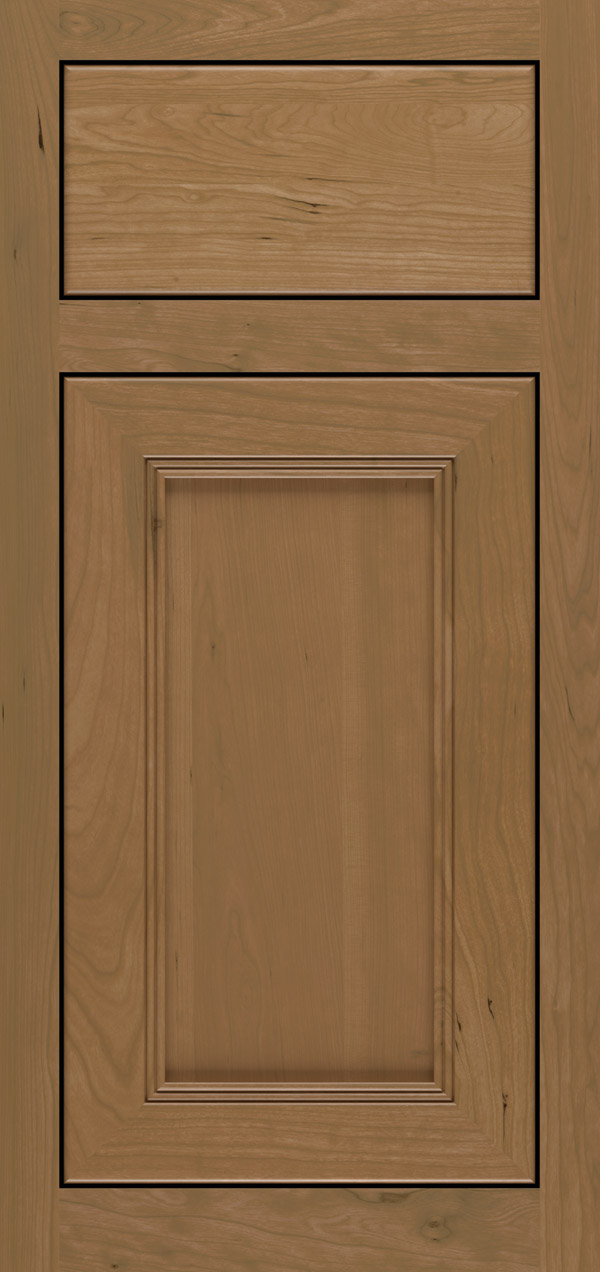 Barrington cherry inset cabinet door in desert