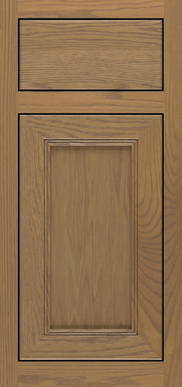 Barrington oak inset cabinet door in desert