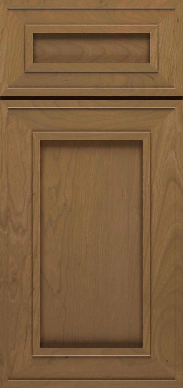 Beckwith 5-piece cherry reversed raised panel cabinet door in desert