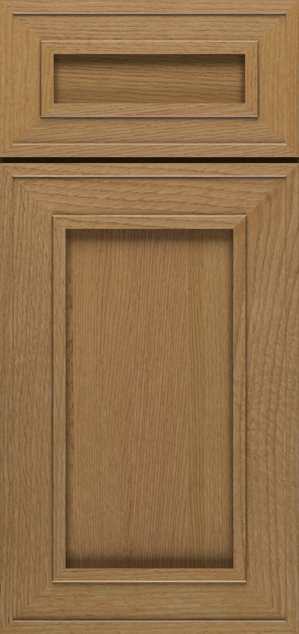 Beckwith 5-piece quartersawn white oak reversed raised panel cabinet door in desert
