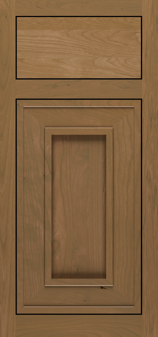Beckwith cherry inset cabinet door in desert