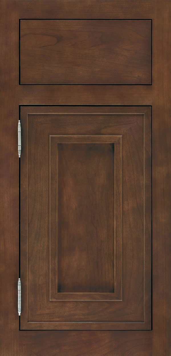 Beckwith cherry inset cabinet door in kodiak