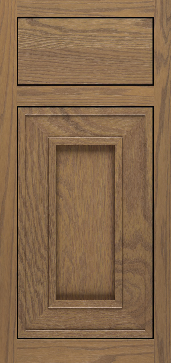 Beckwith oak inset cabinet door in desert