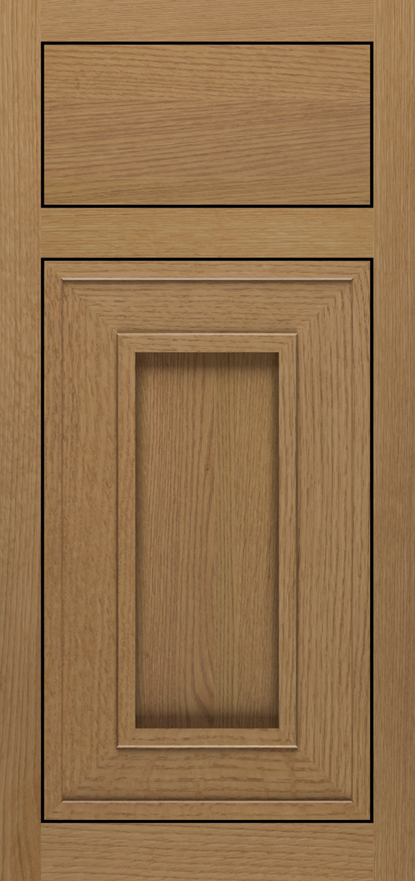 Beckwith quartersawn white oak inset cabinet door in desert
