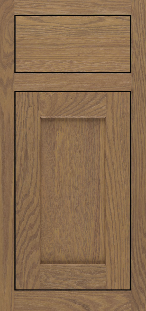 Benson oak inset cabinet door in desert