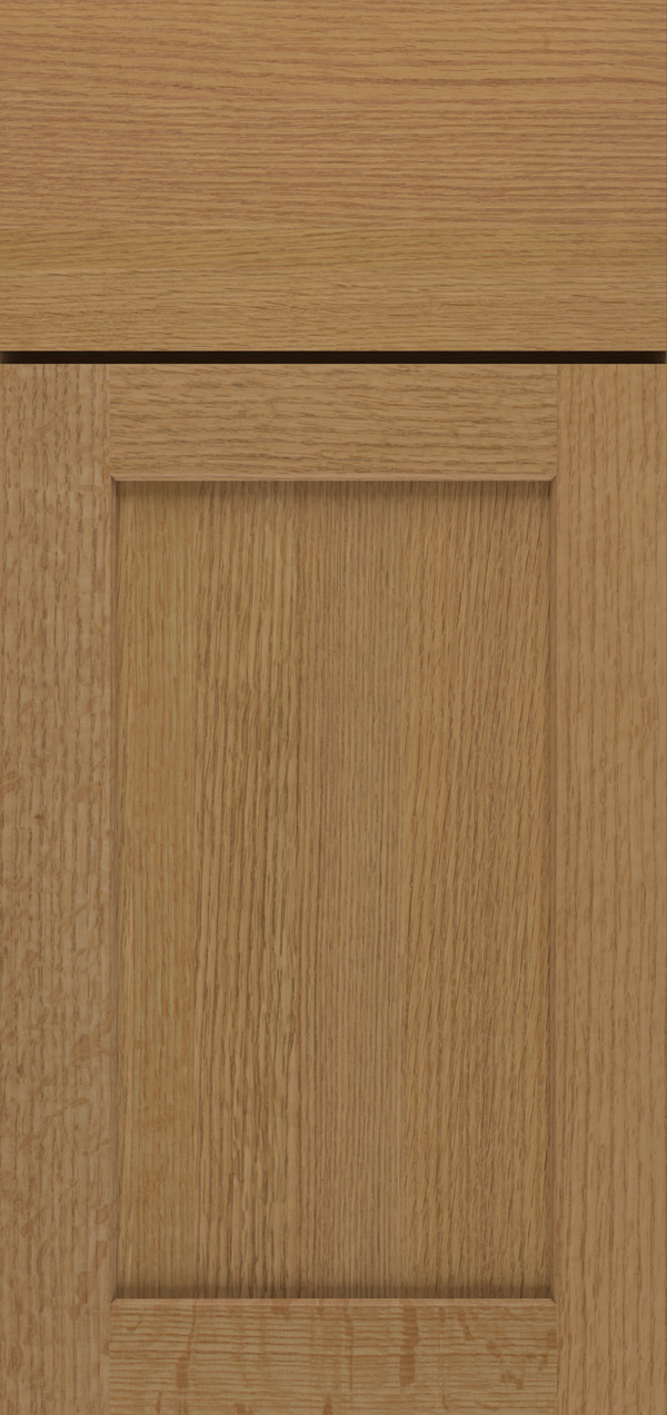 Benson quartersawn white oak reversed raised panel cabinet door in desert