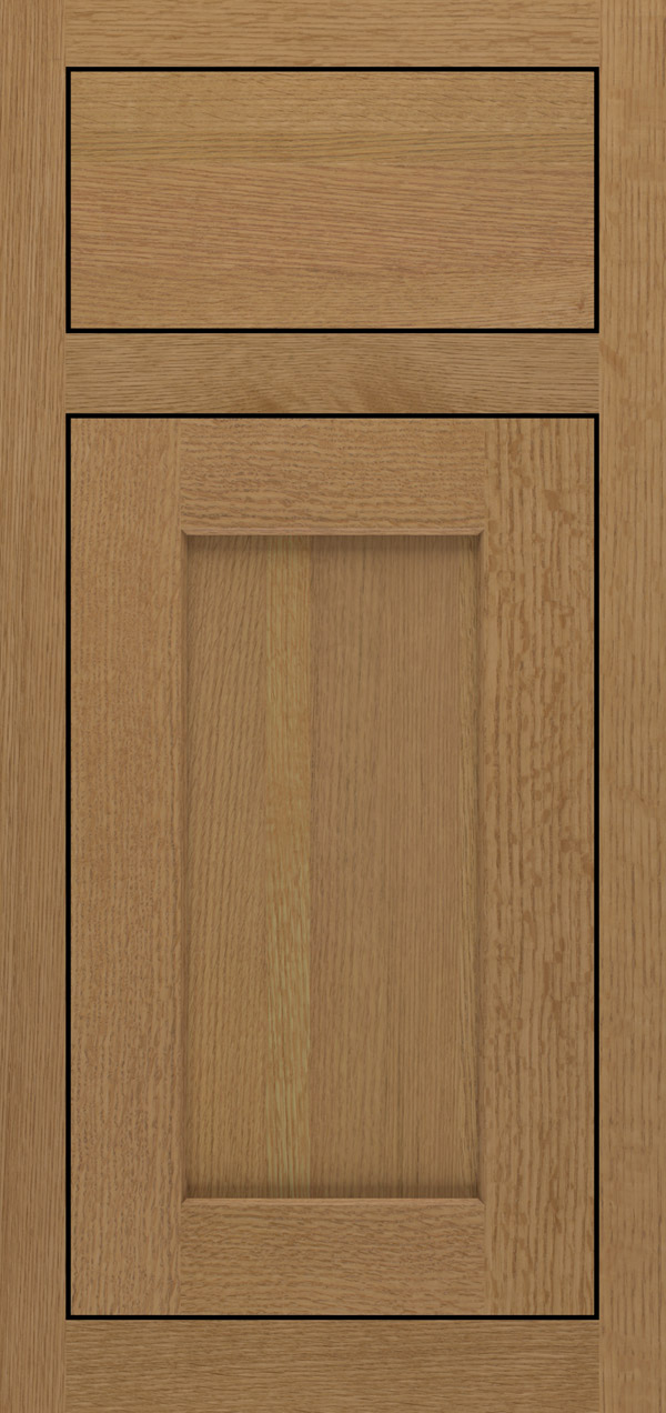 Blair quartersawn white oak inset cabinet door in desert