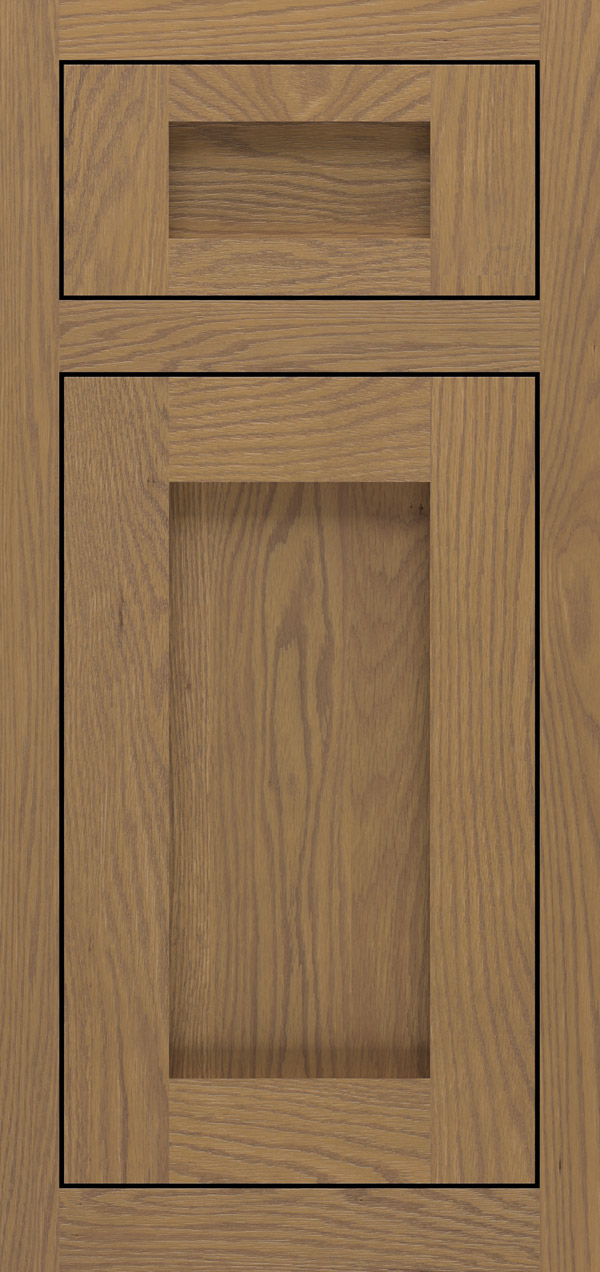 Bravura 5-piece oak inset cabinet door in desert