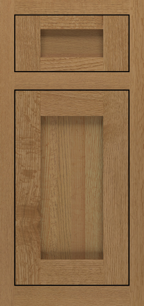 Bravura 5-piece quartersawn white oak inset cabinet door in desert