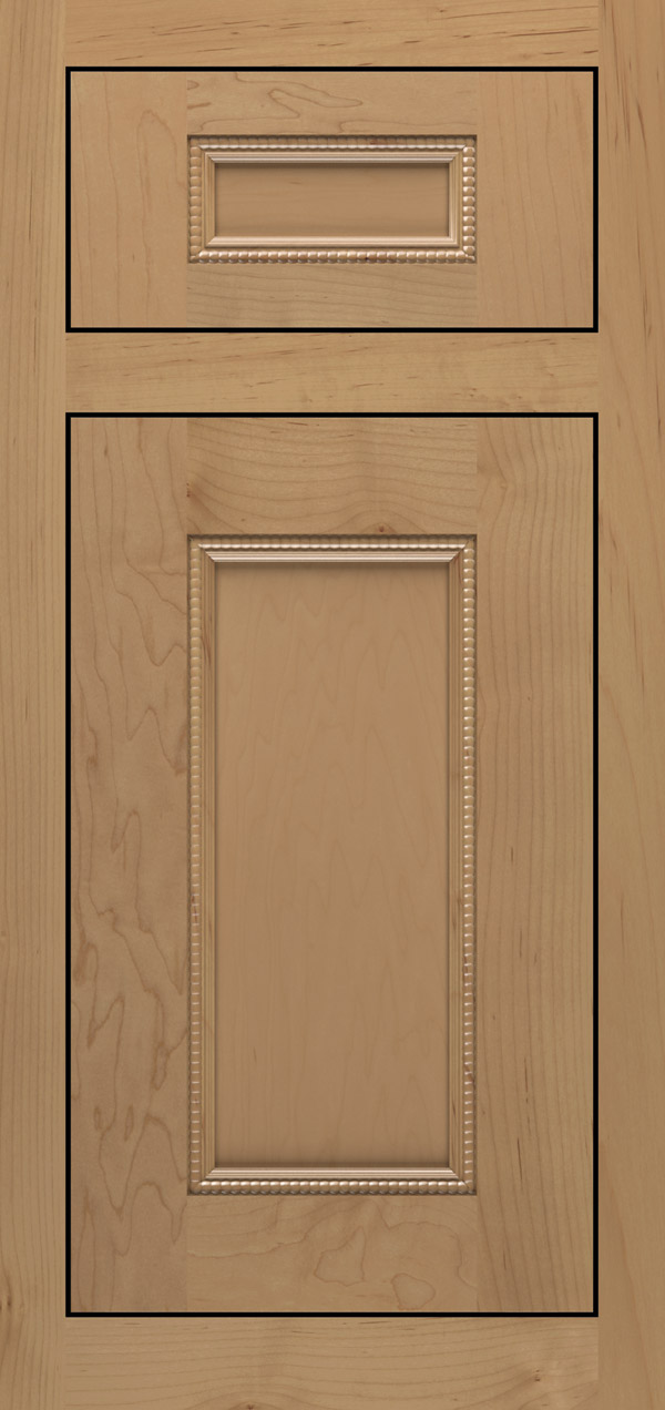 Brentwood 5-piece maple inset cabinet door in desert