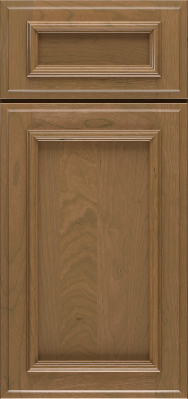 Brighton 5-piece cherry reversed raised panel cabinet door in desert