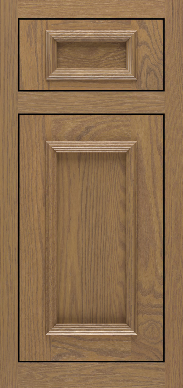 Brighton 5-piece oak inset cabinet door in desert