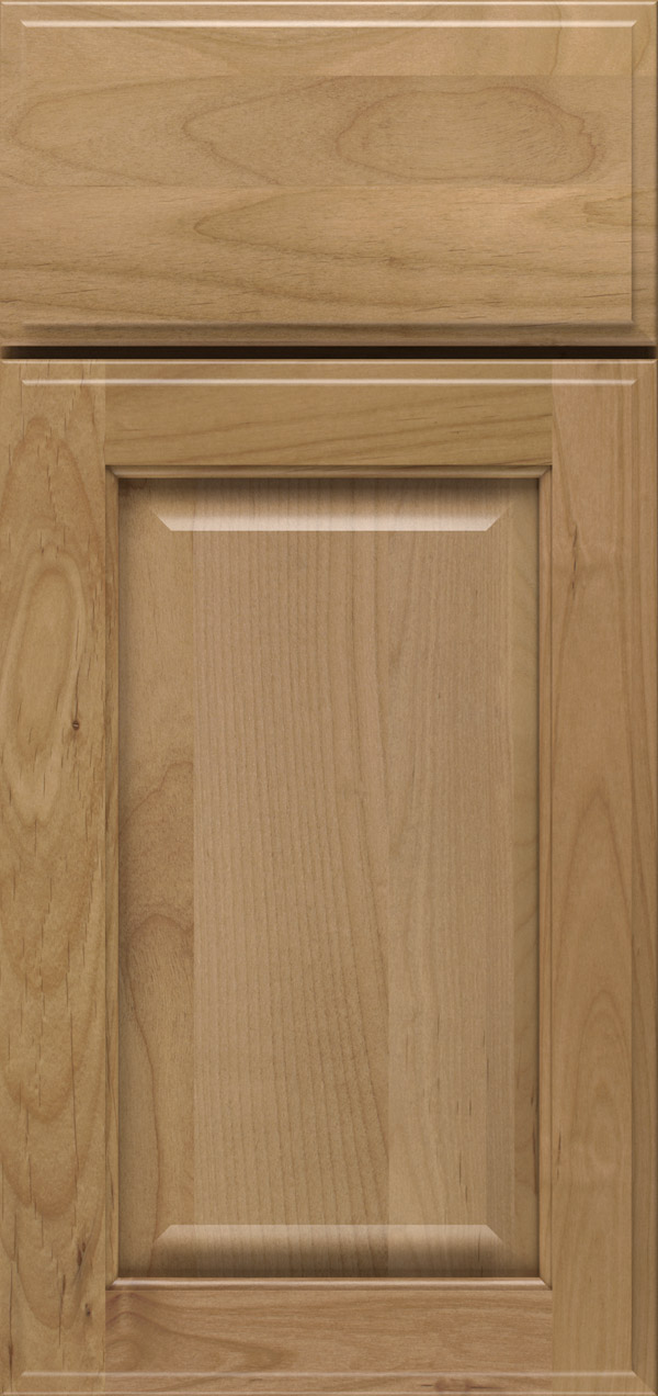 Brookside alder raised panel cabinet door in desert