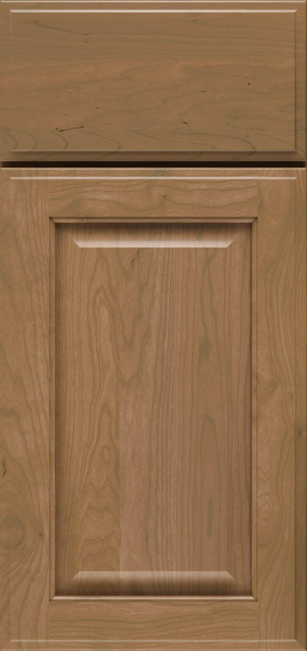 Brookside cherry raised panel cabinet door in desert