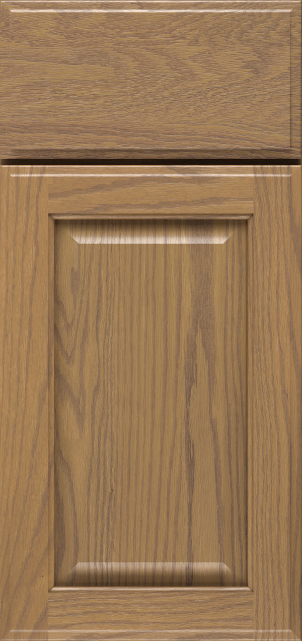 Brookside oak raised panel cabinet door in desert