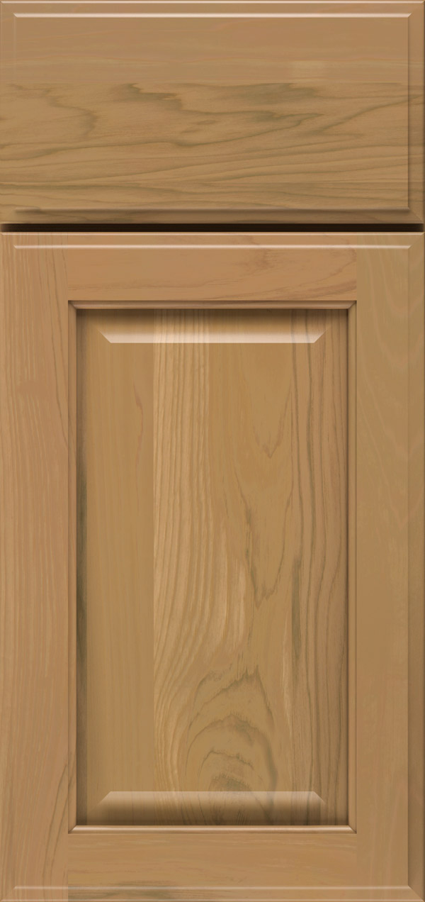 Brookside pecan raised panel cabinet door in desert