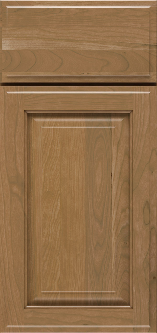 Buckingham cherry raised panel cabinet door in desert