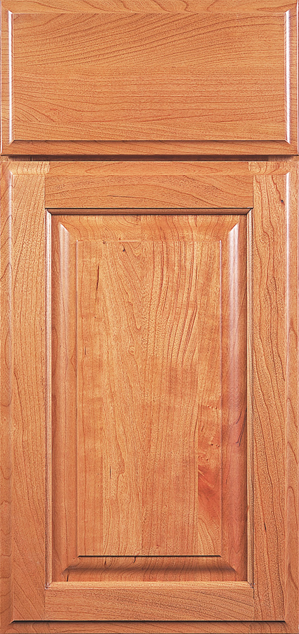 Buckingham cherry raised panel cabinet door in natural