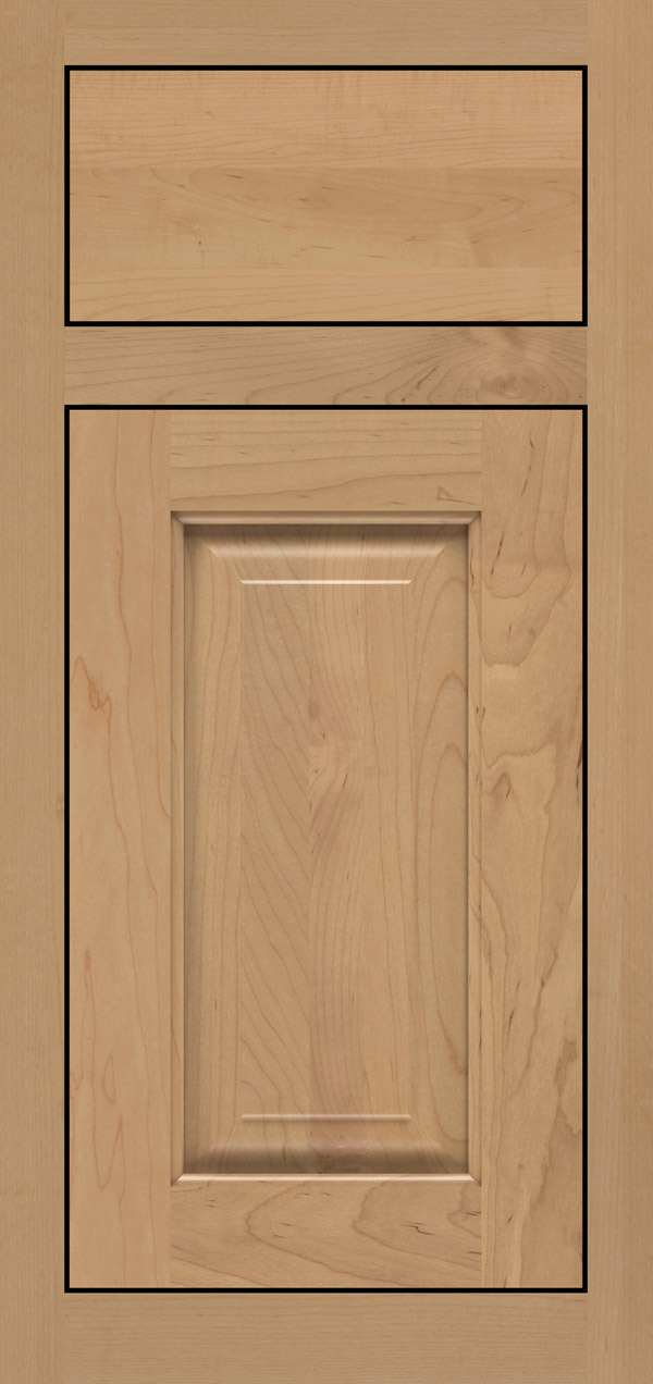 Buckingham maple inset cabinet door in desert