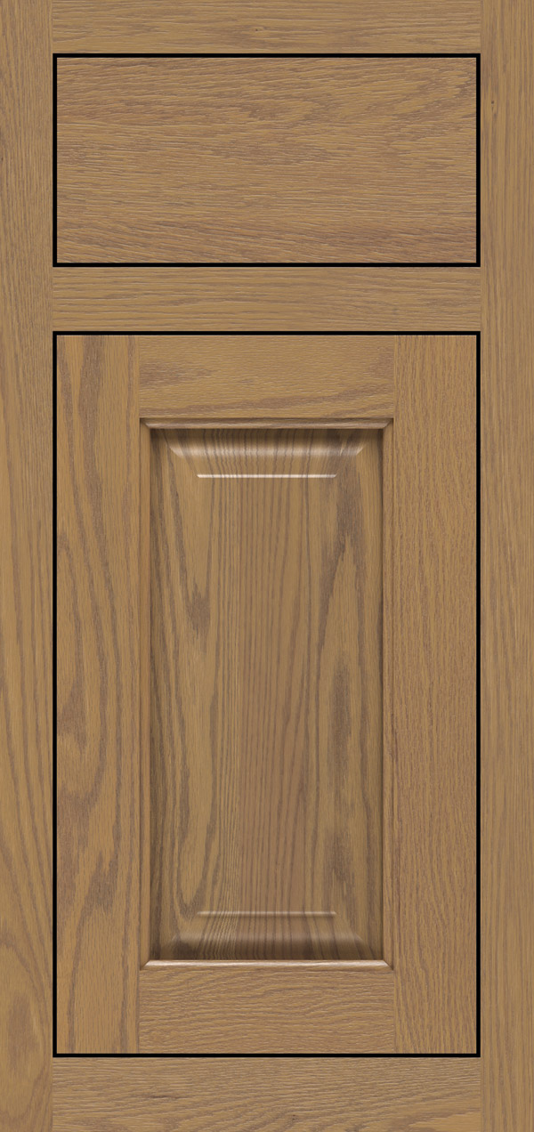 Buckingham oak inset cabinet door in desert