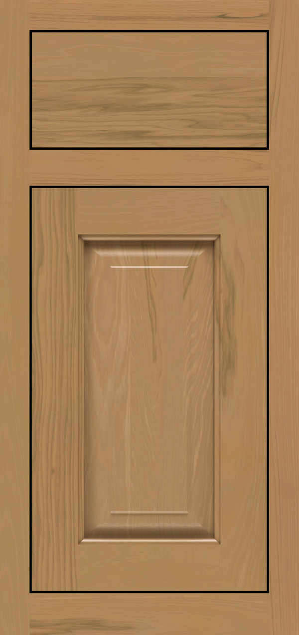 Buckingham pecan inset cabinet door in desert