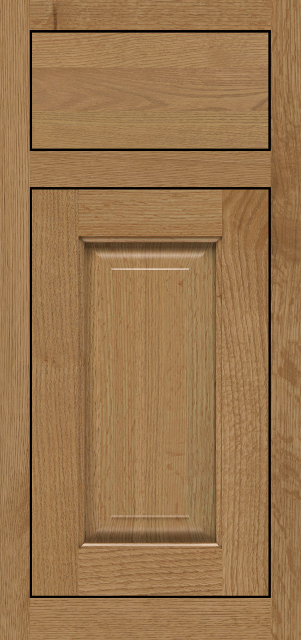 Buckingham quartersawn white oak inset cabinet door in desert