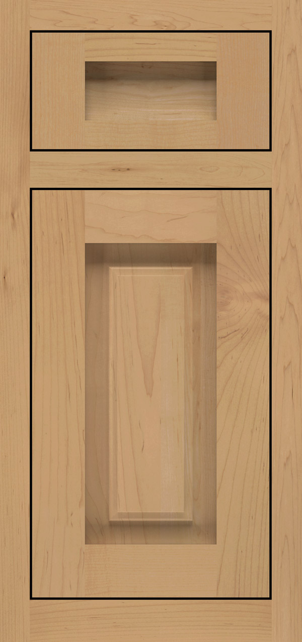 Calendo 5-piece maple inset cabinet door in desert
